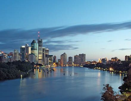Brisbane river city view