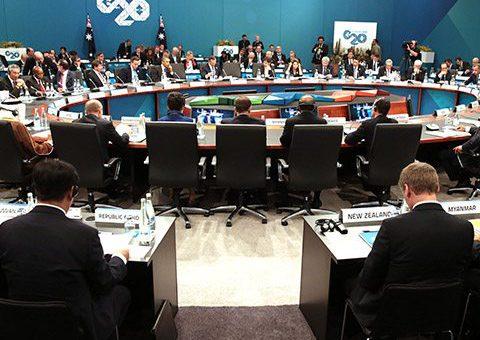 G20 leaders table