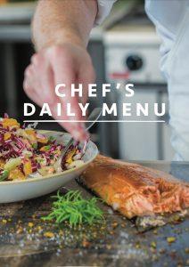 Chefs daily menu