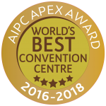 AIPC Awards Sticker: World's Best Convention Centre 2016 -2018