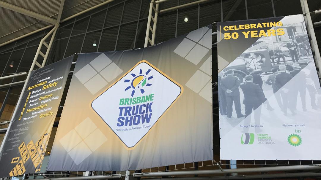 truck show external banners