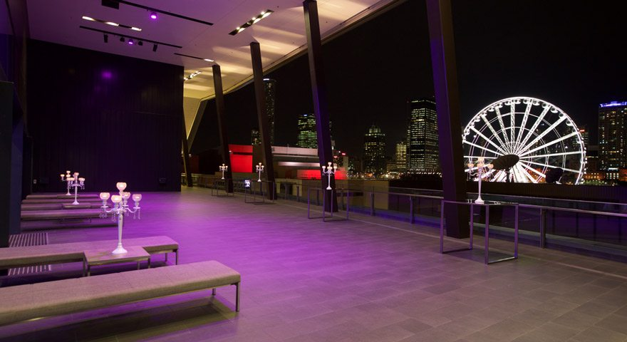Sky Terrace at night
