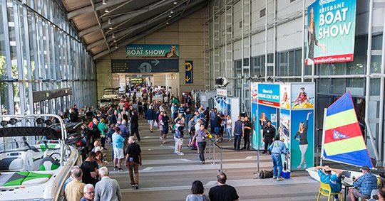 expo concourse for boat show
