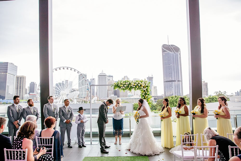 Sky Terrace, a city backdrop for your 'I do' moment