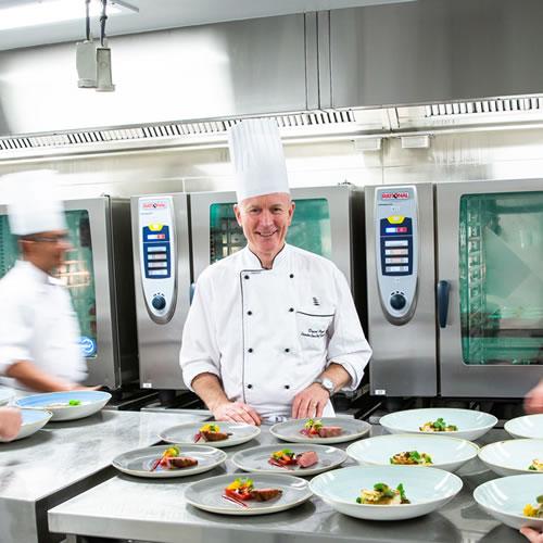 Food Preparation: David Pugh overseeing food preparation