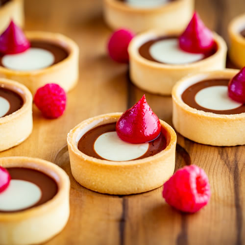 Food: Chocolate tart with fresh raspberries