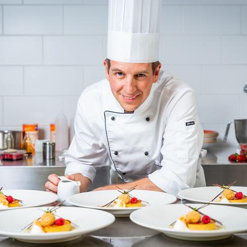 Food Preparation: Damien McDermid plating food