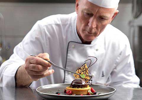 david pugh completing a dish