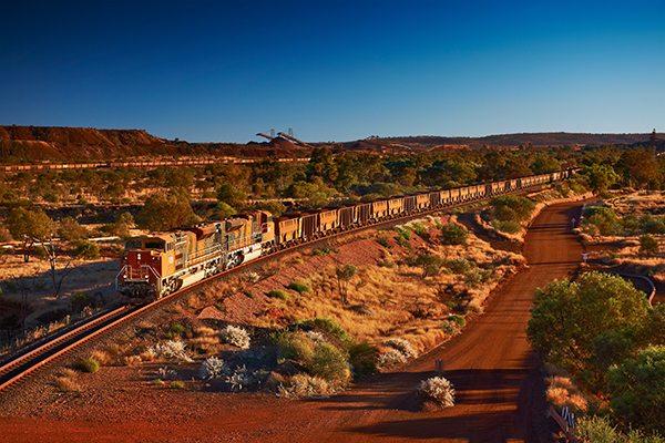 train with coal wagons