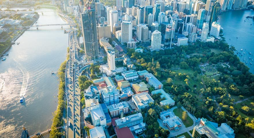 Brisbane CBD Aerial View