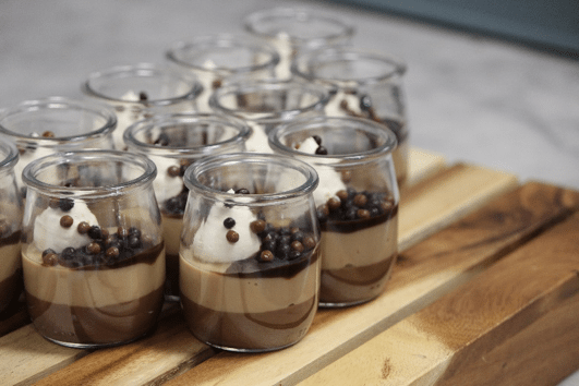 Chocolate Caramel Pots