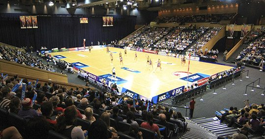 Great Hall netball game with Queensland firebirds